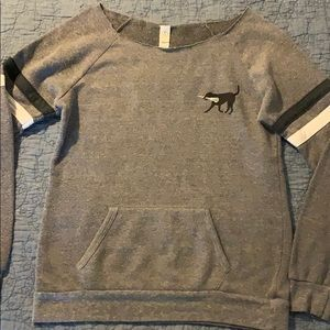Alternative Earth grey & black crew sweatshirt Lax